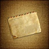 Vintage envuelven en lona marrón — Foto de Stock