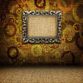 Iron frame in the room — Stock Photo