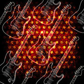 Glowin electric guitar — Stock Photo