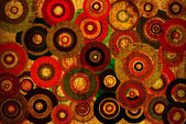 Grunge background with colorful circles — Stock Photo