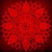 Red spirutal sun background — Stock Photo