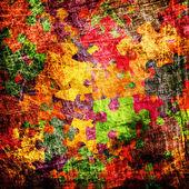 Grunge pozadí s barevné puzzle — Stock fotografie