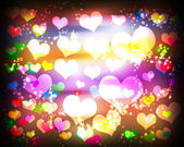 Abstract background with hearts circles — Stock Photo