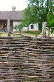 Traditional Ukrainian Homestead in Pirogovo ethnic park — Stock Photo