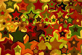 Grunge background with colorful stars — Foto de Stock