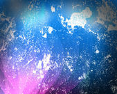 White paint spots on a dark-blue background — Stock Photo