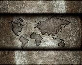 Worldmap on a steel background — Stock Photo