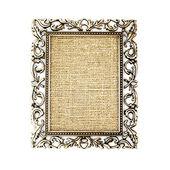 Golden frame on a white background — Stock Photo