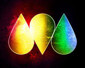 Colored drops on a grunge background — Stock Photo