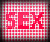 The word Sex on a pink background — Stock Photo