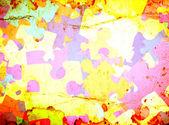 Grunge bakgrund med färgglada pussel — Stockfoto