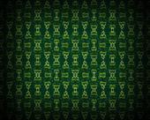 Seamless wallpaper pattern, green — Stock Photo