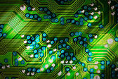 Computer circuit board in green — Stock Photo