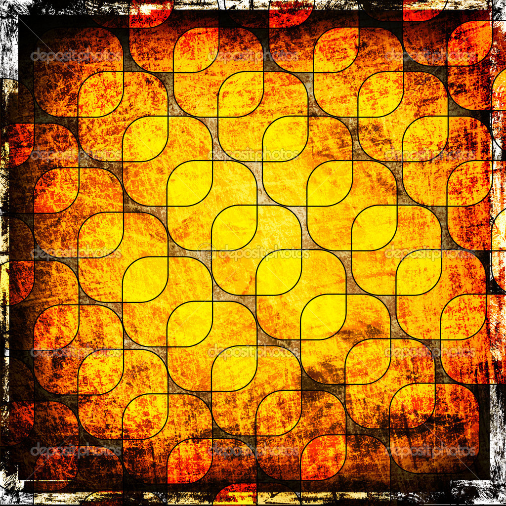 Orange squares on the grunge background — Stock Photo #7453549