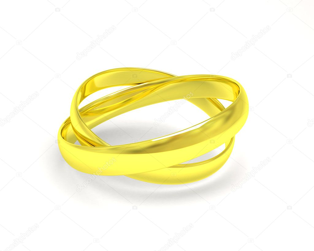 Isolated gold wedding rings — Stock Photo #7454226