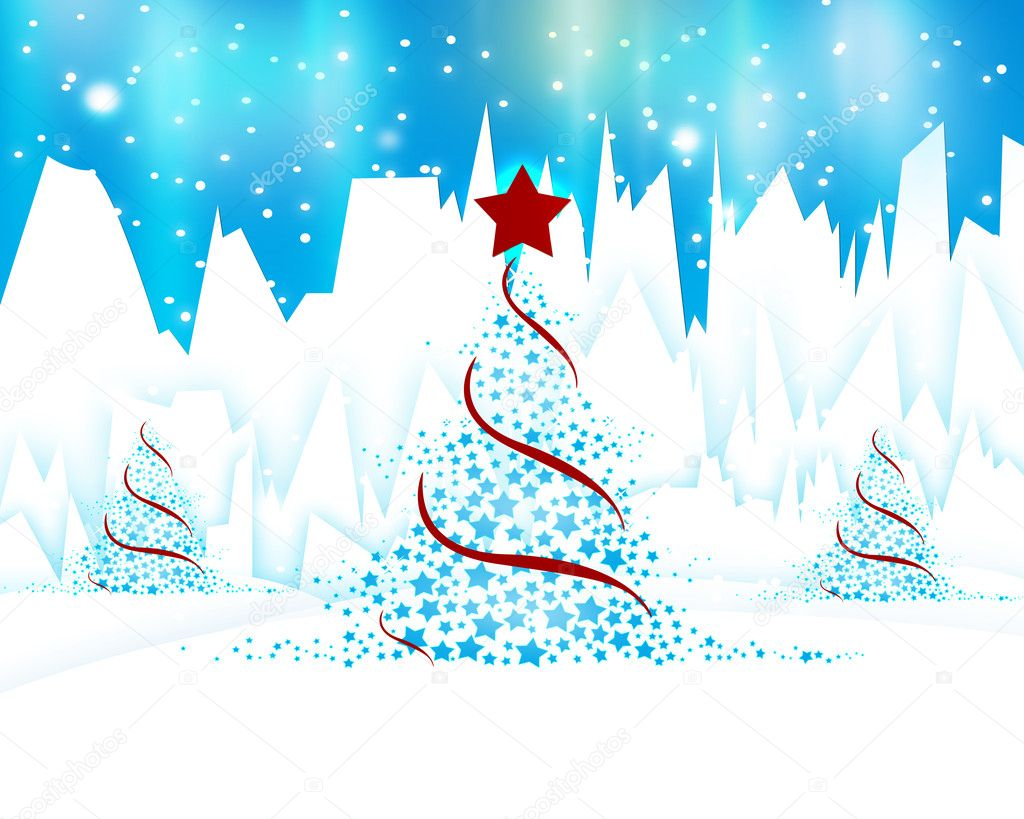 Christmas tree background — Stock Photo #7458963