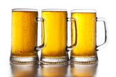 Three glass of beer — Stock Photo