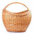 Wicker basket - Stock Photo
