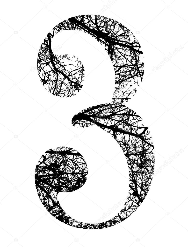 Resultado de imagen de numero 3 ramas de arboles