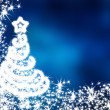 Blue christmas background — Stock Photo #7793502