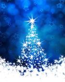 рождественская елка на синем фоне — Стоковое фото
