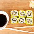 Stock Photo: Sushi Set background
