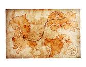 Vecchia mappa del tesoro — Foto Stock