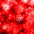 Stock Photo: Christmas background with white snowflakes and stars