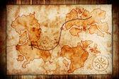 старая карта сокровищ — Стоковое фото