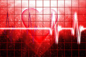 Cardial heart beating — Stock Photo