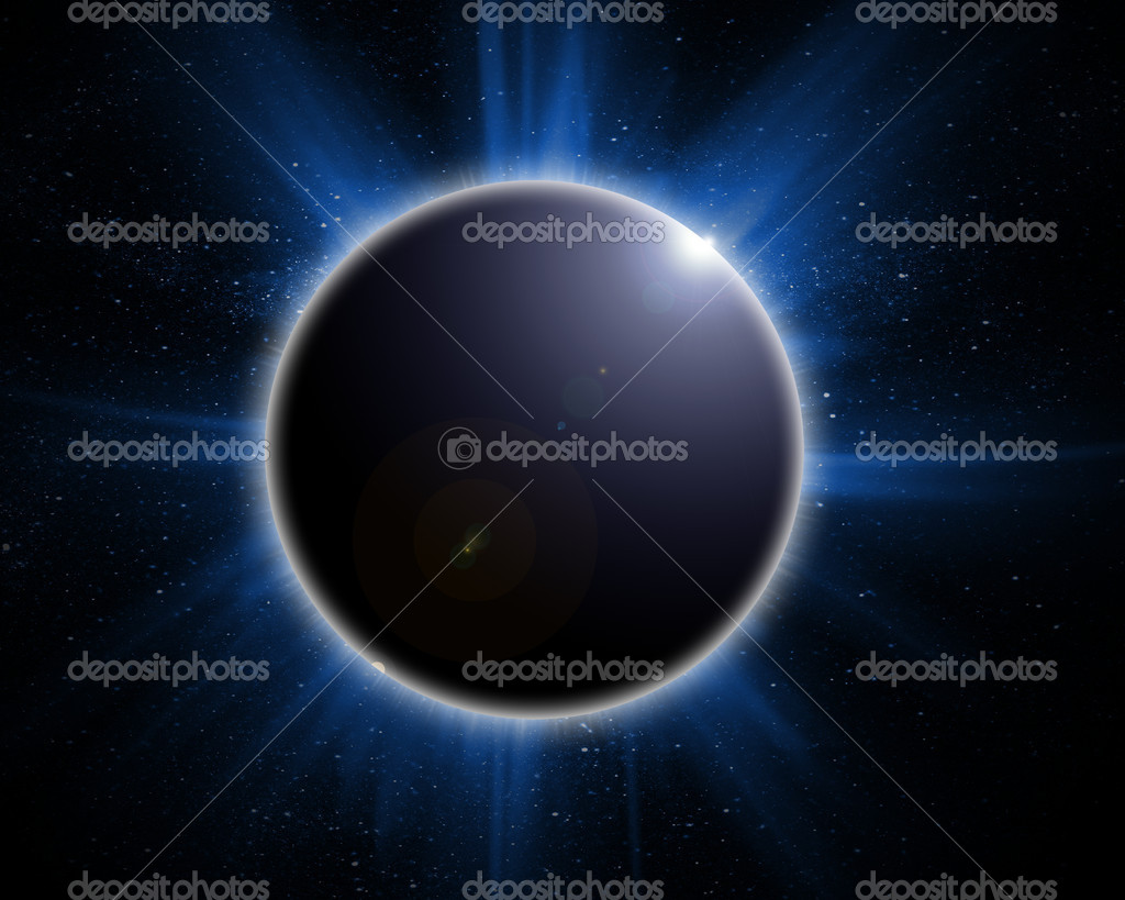 Solar eclipse on a black background — Stock fotografie #7942153