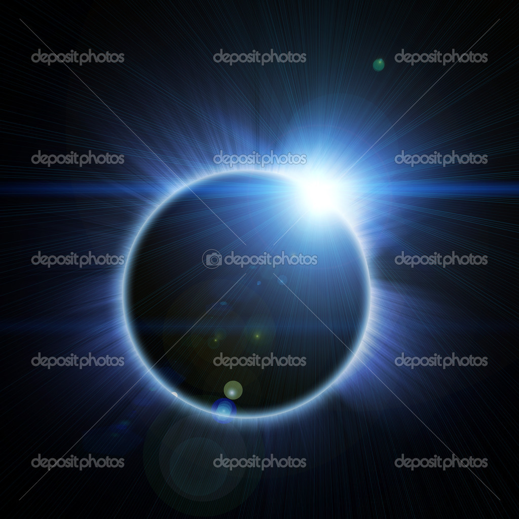 Solar eclipse on a black background — Stock Photo #7942176