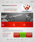 Web design vector template — Vector de stock