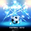 Football light poster you can change ball your product - Stock Vector