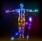 Cuerpo humano abstracto — Vector de stock