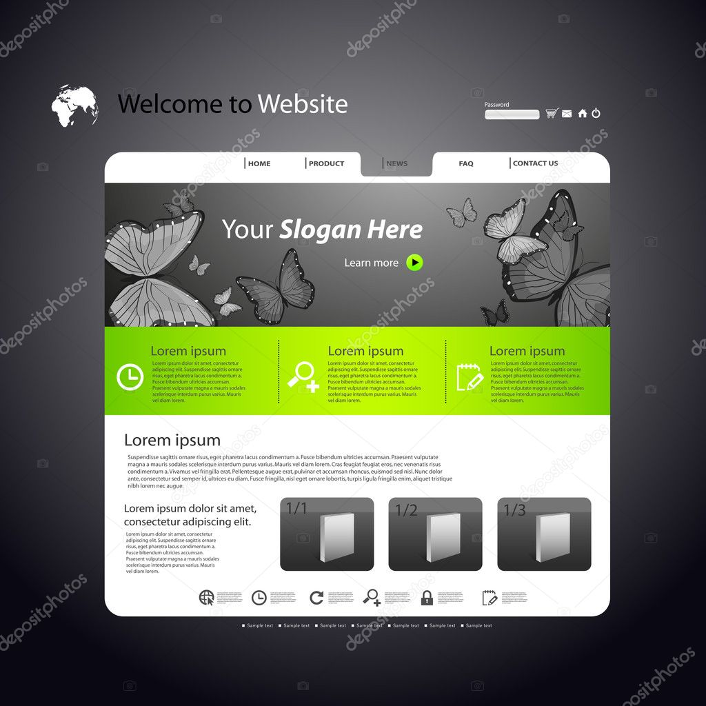 Web site modern design art template — Stock Vector #7460021