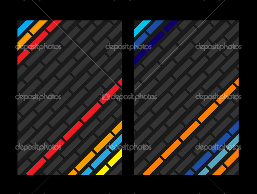 Business color card set concept  Stock Vector #7460038