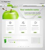 Www szablon wektor z jabłkiem — Wektor stockowy