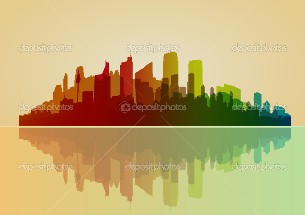 Colorful city vector background   Stock Vector #7494106