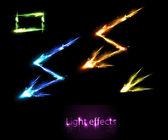 Light neon effects — Stock Vector