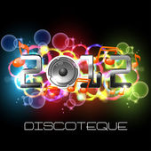 Colorful New Year Background — Stock Vector