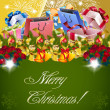 Christmas background vector — Stockvector #7597310
