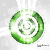 抽象的な未来的な緑色の円 — ストックベクタ