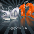 2012 Happy New Year card — Stock Vector