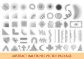 Vector illustration halftone patterns set — Stock Vector