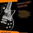 Music poster with guitar - Vektorgrafik