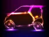 Car neon light design — Stock Vector