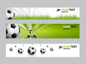 Football web banner — Stock Vector