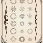 Calligraphic set elements — Stock Vector #7940589