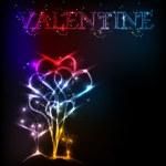 Heart valentine background — Stock Vector #7940658